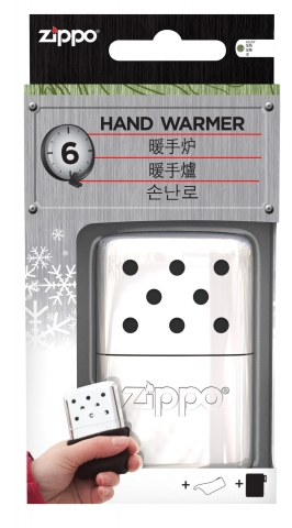6-Hour High Polish Chrome Refillable Hand Warmer